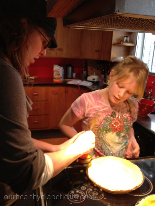 Evie learns to make pecan pie from scratch. Score!