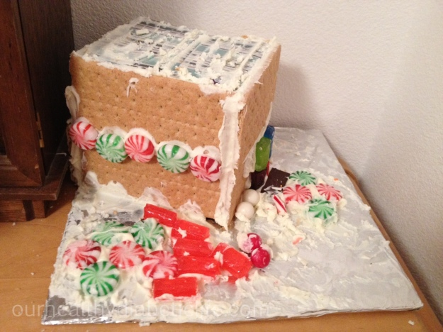 Pilfered gingerbread house